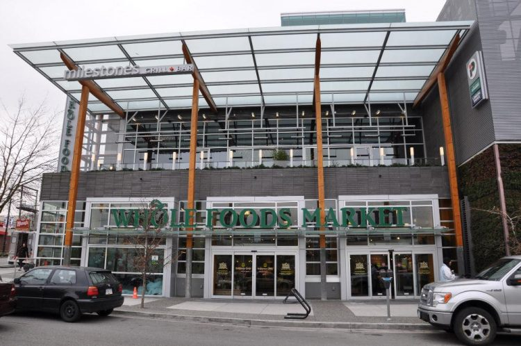 Storefront of Whole Foods Market on Cambie