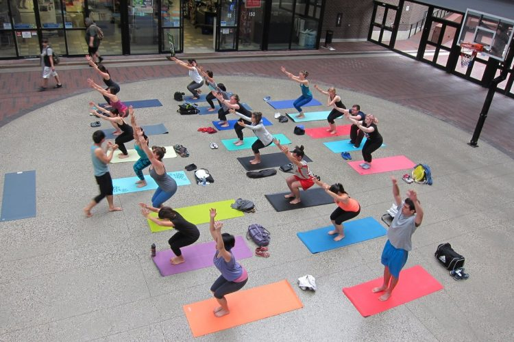 Yoga at Woodwards Building in Gastown