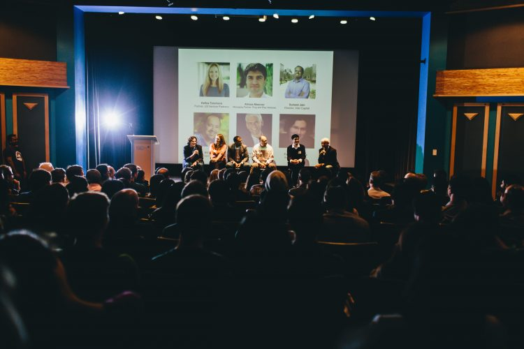 atendees sitting in on panel talk at Vancouver Start-up week