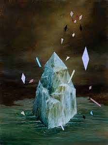 painting of a crystal breaking by rebecca chaperon