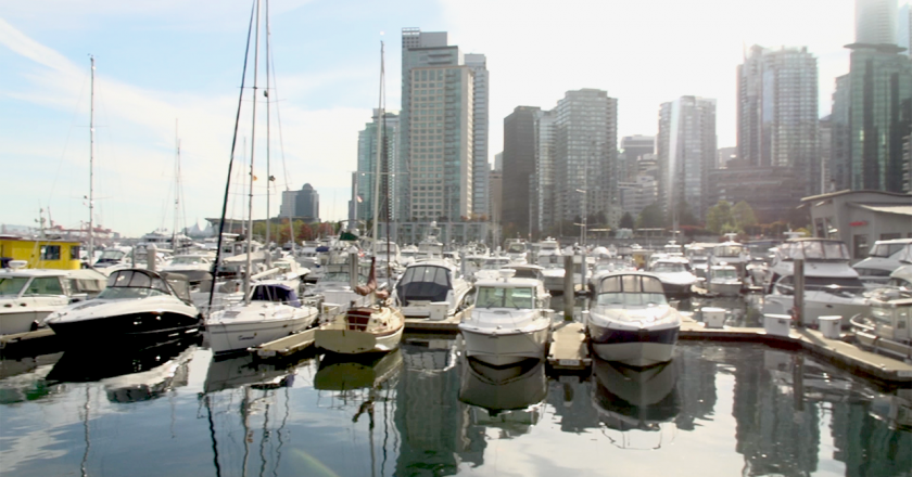 yachts in coal harbour marina
