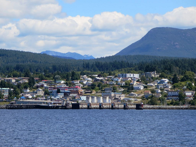 Waterfront view of the Sunshine Coast