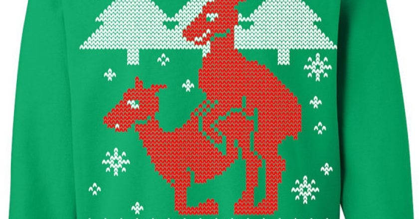 Reindeer humping Ugly Christmas Sweater
