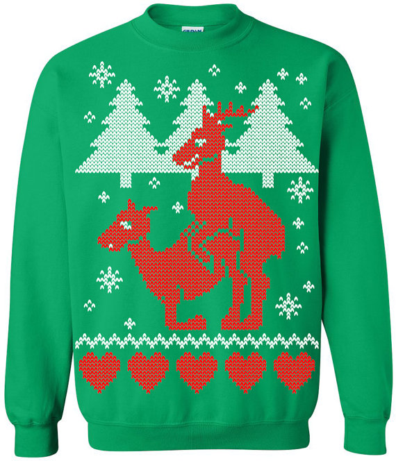 5c599bb7ead Reindeer humping Ugly Christmas Sweater
