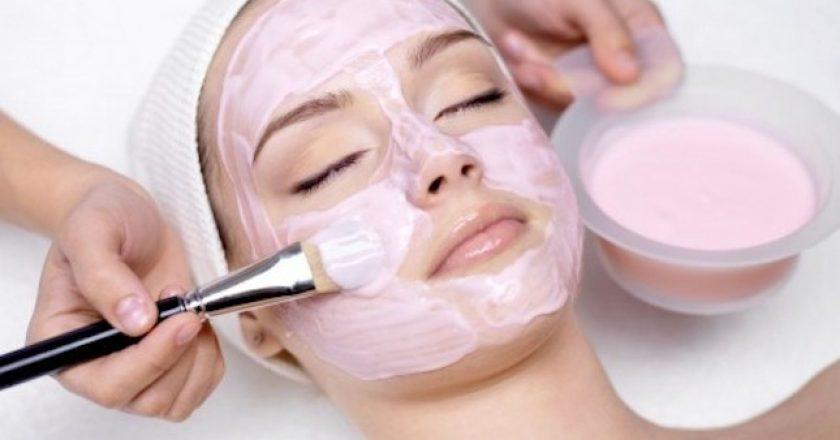 girl getting skin treatment
