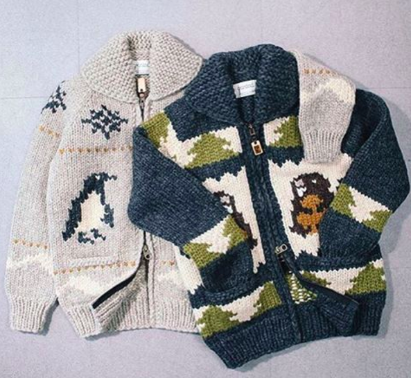 handcrafted knit sweater