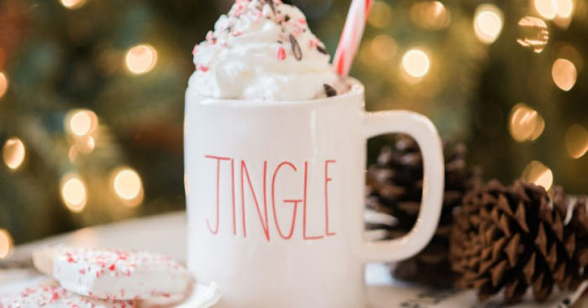 peppermint hot chocolate in a jingle cup
