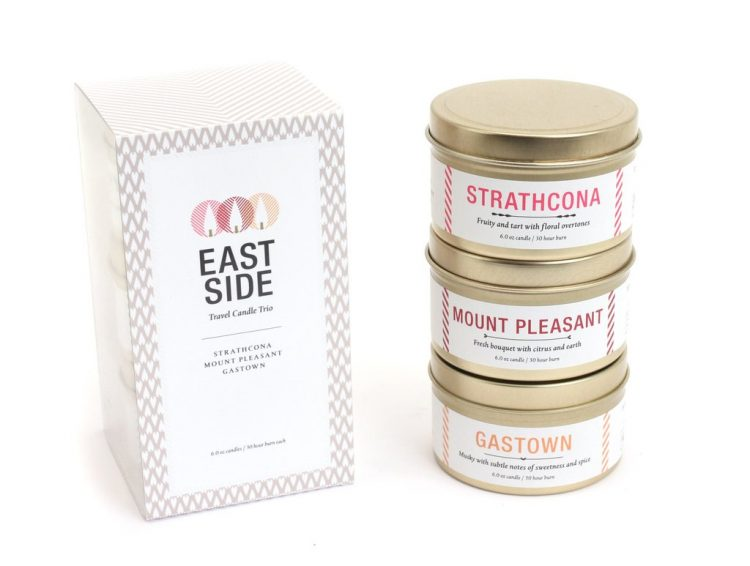 trio of candles from Vancouver Candle Company