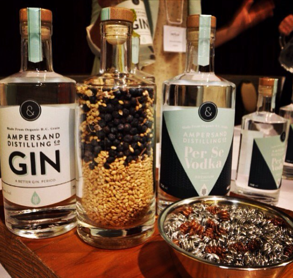 bottles of gin from micro-distillery Ampersand Distilling Company