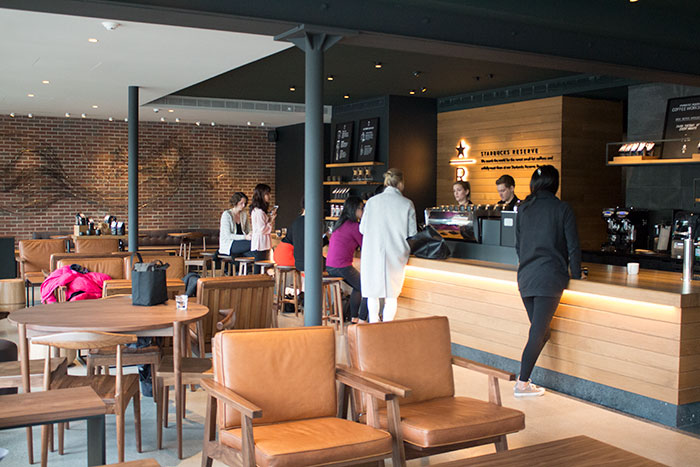 Starbucks experiential Reserve Coffee Bar in Mount Pleasant