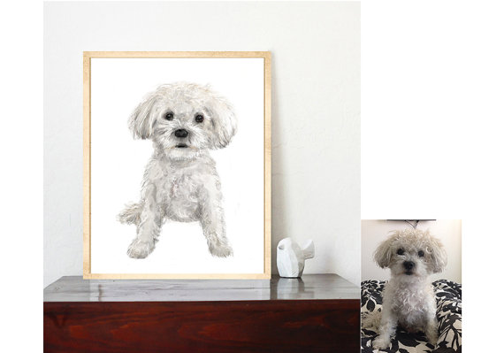 pet portrait available at Etsy