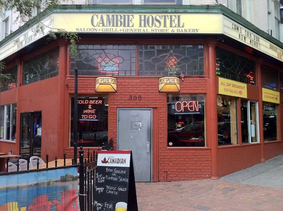 Cambie Hostel in Gastown, Vancouver