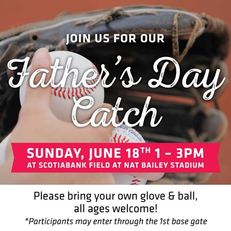 Vancouver Canadians Annual Father's Day Catch at Nat Bailey Stadium