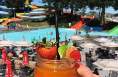 enjoy margaritas on the patio at Big Splash Water Park in Tsawwassen