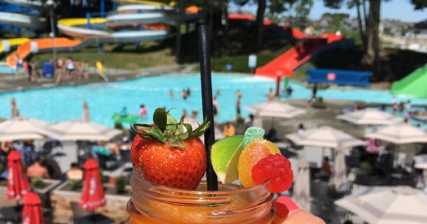 enjoy margaritas on the patio at Big Splash Water Park in Tsawwassen