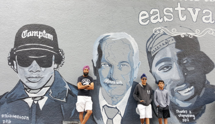 Welcome to East Van mural