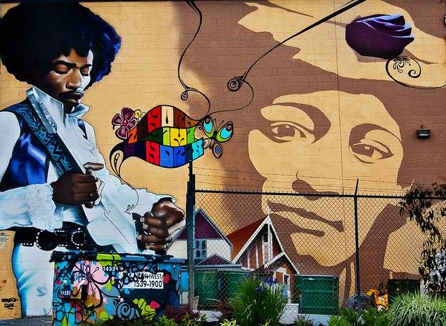 Jimi Hendrix mural in Vancouver