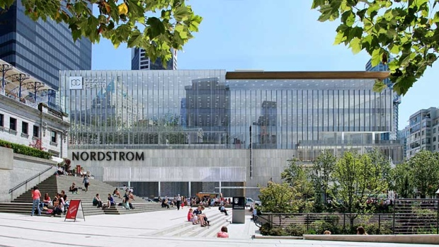 exterior of Nordstrom Vancouver