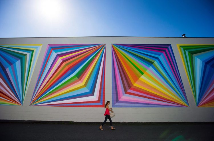 Kristofir Dean rainbow mural painted by Milan Basic
