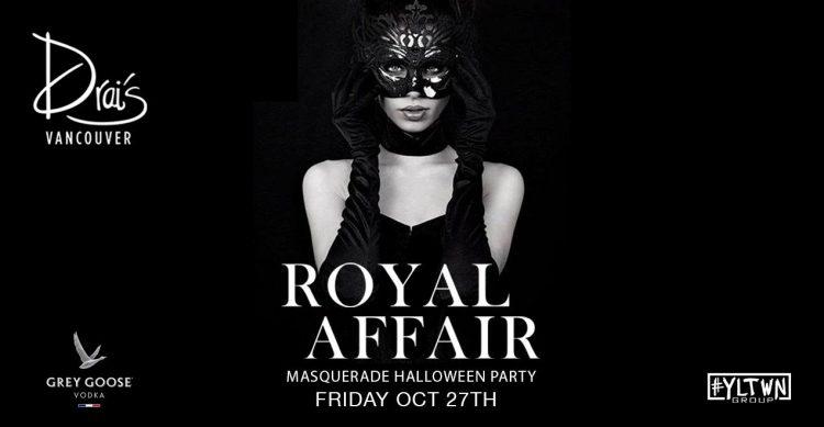 royal affair masquerade halloween party drai's