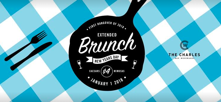 New Year's day brunch party at the Charles Bar