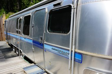 airstream at woods on pender